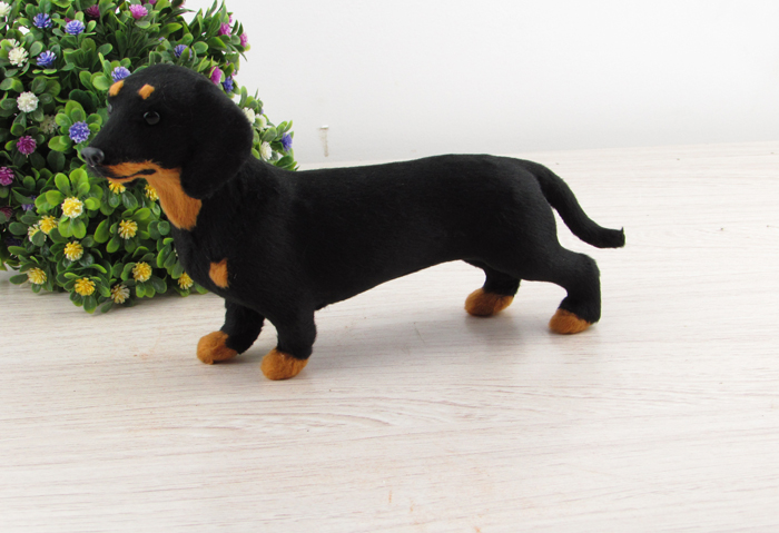 new simulation dog toy lifelike Black dachshund home decoration about 21x5x12cm