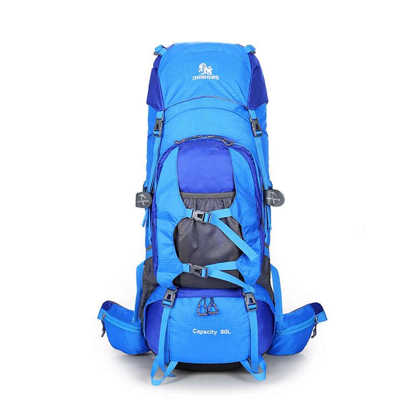92e2919b8866 80L Nylon Outdoor Bags Camping Hiking Backpack Bag Waterproof Men Sport Bag  Climbing Large Travel Rucksack