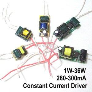 Image 1 - 2 sztuk LED sterownik stały prąd zasilanie lampy 280mA 300mA 1W 3W 5W 7W 9W 10W 20W 30W 36W 50W izolacja transformator oświetleniowy
