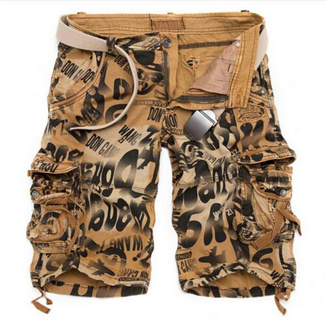 Camouflage Cargo Shorts Naturals