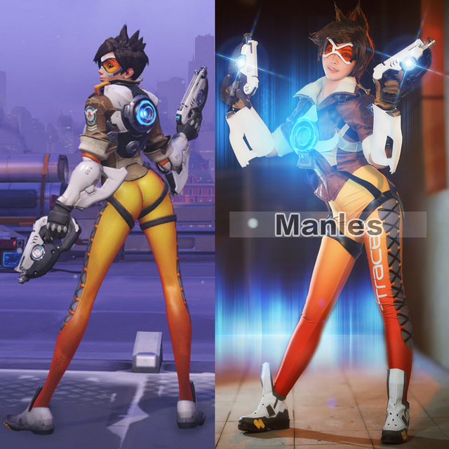 Aliexpress.com : Buy Tracer Lena Oxton Costume Cosplay Yellow Suit ...