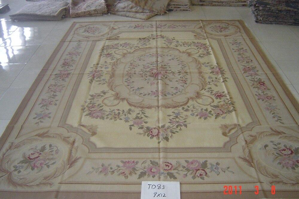 Livraison gratuite 8'x10' Aubusson tapis faits à la main tapis en laine aubusson tapis pour la décoration de la maison tapis de chambre