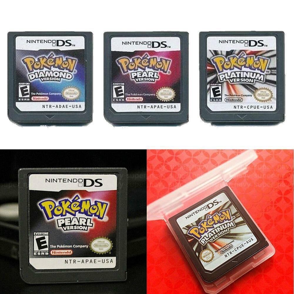 3Pcs Pokemon Cartridge Platinum+Pearl+Diamond US Version Game Card For Nintendo DS NDS DSI