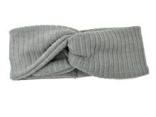 T175427 hot sell sweater knit ribbed Classic twist headband,Acrylic grey  hairband women fashion Elastic