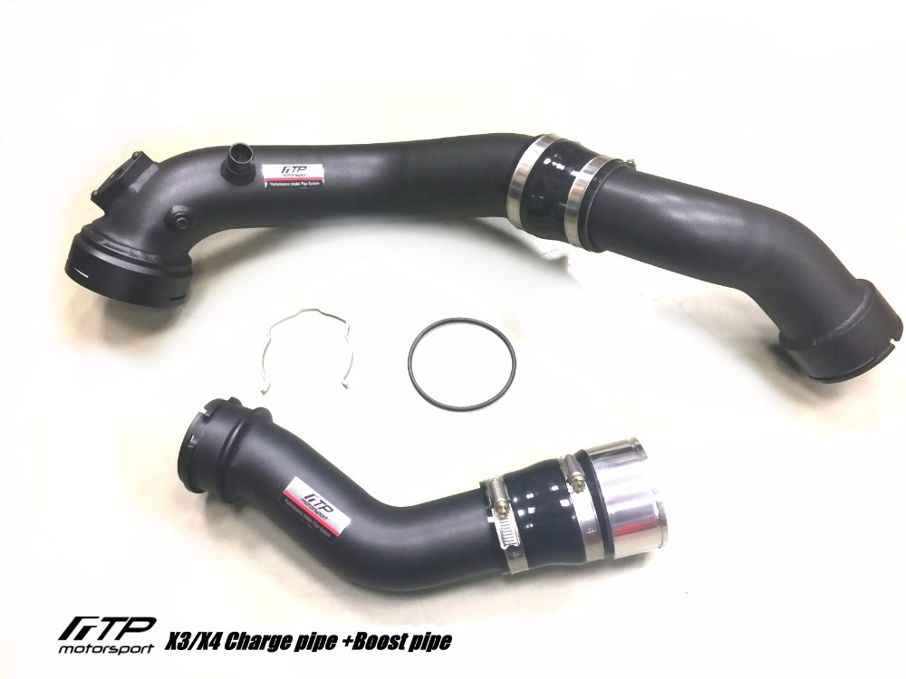 Taiwan FTP Intake Turbo Charge Pipe For BMW F25 X3/ F26 X4 35i N55 Black Aluminum Free Shipping Modified Cars Pipe