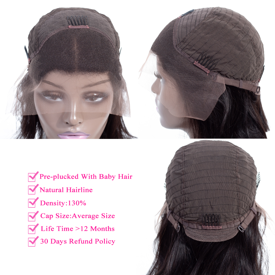 Queenlike Lace Frontal Bob Wig With Pre Plucked Hairline Brazilian Remy Hair For Black Women Short Lace Frontal Human Hair Wigs