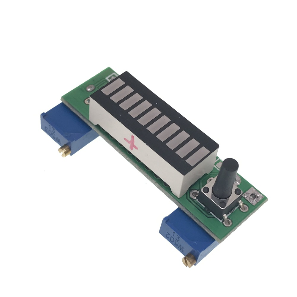 LM3914 Blue 10 Segment 3.7V Lithium 12V Battery Capacity Indicator Module Power Level Tester LED Display Electronic Diy Kits