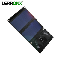 LERRONX Sunpower foldable Solar Panel portable solar panels waterproof 15W 5V solar charger for Mobile phone outdoor camping