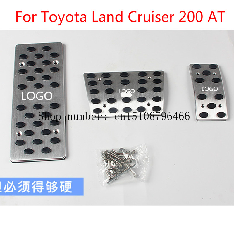 For Toyota Land Cruiser 200 AT  Auto Transmission Accelerator Brake Footrest Pedal Pedales Stickers Plate Pads Car-stylingFor Toyota Land Cruiser 200 AT  Auto Transmission Accelerator Brake Footrest Pedal Pedales Stickers Plate Pads Car-styling