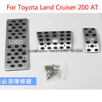 For Toyota Land Cruiser 200 AT Auto Transmission Accelerator Brake Footrest Pedal Pedales Stickers Plate Pads Car styling