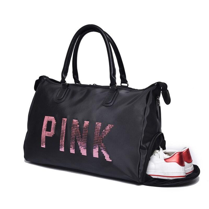 Розовый девушка путешествия вещевой мешок Для женщин Путешествия Бизнес Сумки Виктория пляжная сумка большой секрет Ёмкость дорожные сумк...
