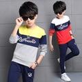5 6 7 8 9 10 11 12 13 14 years Sports Suits For Boys Cotton Children Clothing Letter T-Shirt + Pants 2Pcs Boys Kids Tracksuits