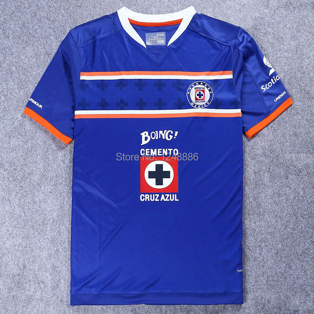260fd9eb82c Cruz Azul De Mexico Shirts15 16 Blue Cross soccer jersey Home Away Football  Jersey Blue Cross