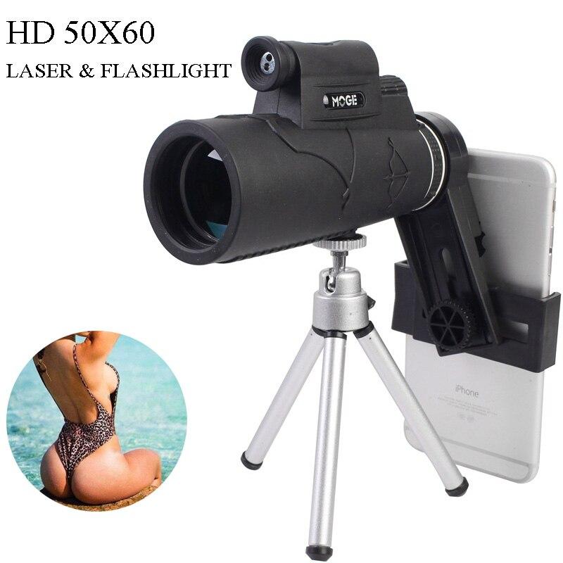 Mirino monoculare 40X60 per visione notturna con prisma con clip per telefono