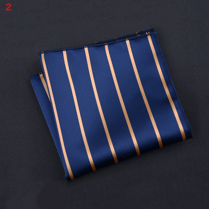 Polyester Square Towel Trendy Wedding Banquet Handkerchief Gentleman Suit Pocket Hanky QL Sale