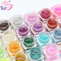 24 colores 8 ml de la resina del brillo UV Gel brillante diamante pulir poder para manicura diseño 3D Nail Art decoraciones JH338