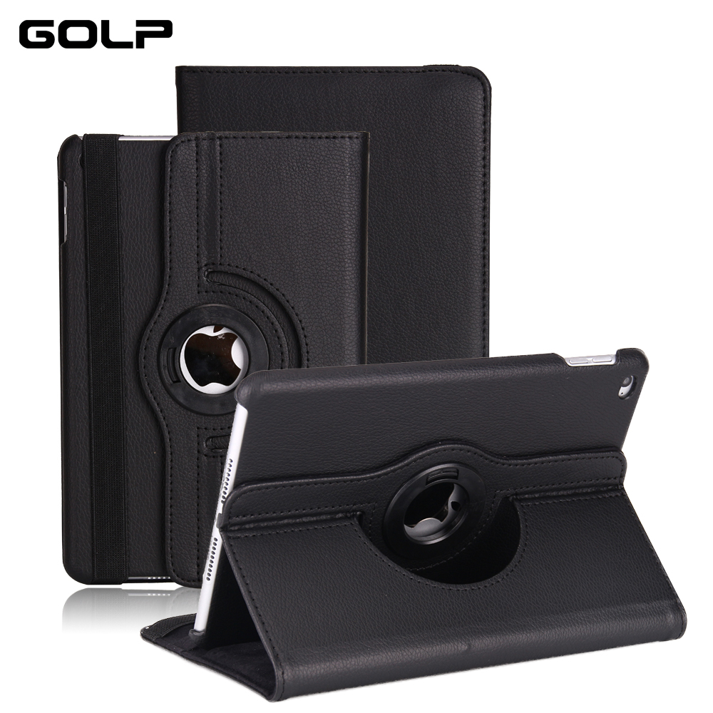 Smart Cover For iPad 2018 Case, GOLP Ultra Slim PU Leather Flip case 2017 with stand holder for 9.7