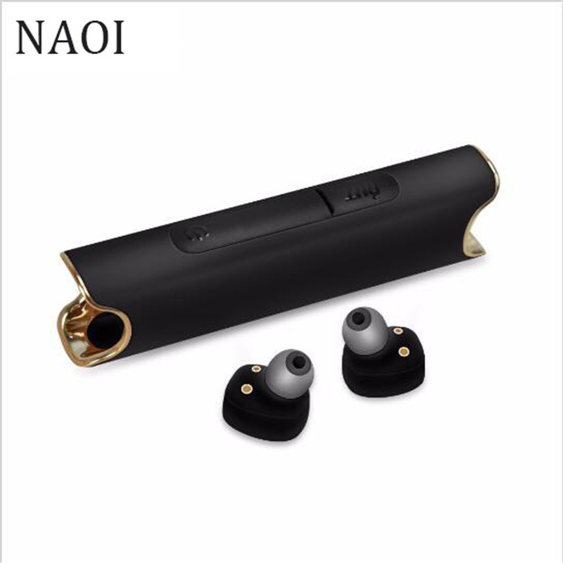NAOI S2 Mini Bluetooth Headset TWS Wireless Earbuds Micro Earpiece Sport Earphones For Phone IPhone 7 Airpods Earphone For Girls remax 2 in1 mini bluetooth 4 0 headphones usb car charger dock wireless car headset bluetooth earphone for iphone 7 6s android