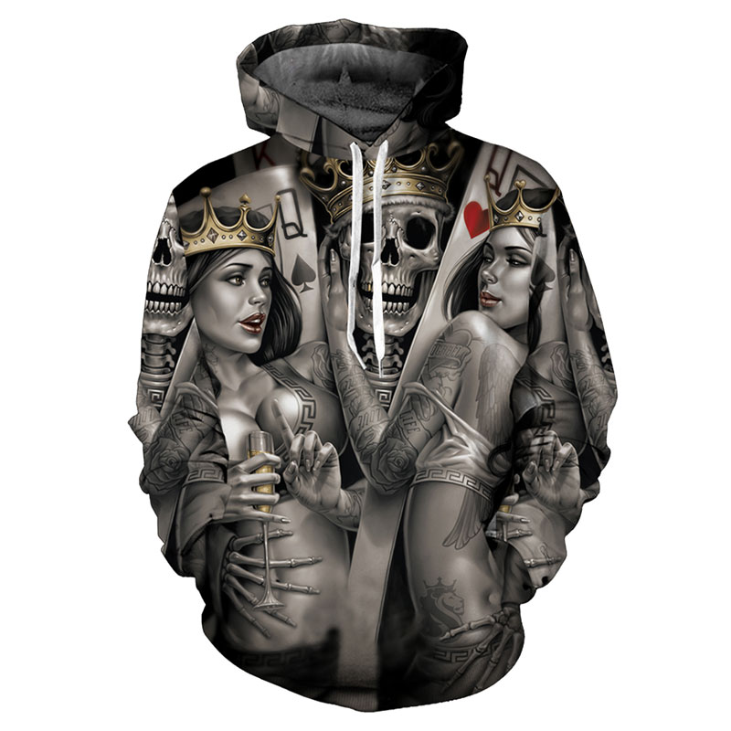 Headbook New Fashion Men/Women 3d Hoodies Print Metal Skulls Bride Groom Hooded Hoodies Thin 3d Sweatshirts Hoody Tops DZW001