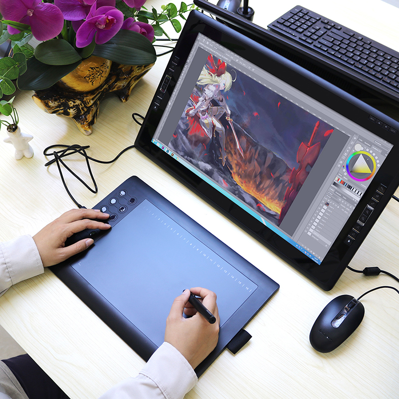 Design Tablett Professional Graphics Tablet For Drawing Gaomon M106k 10x6