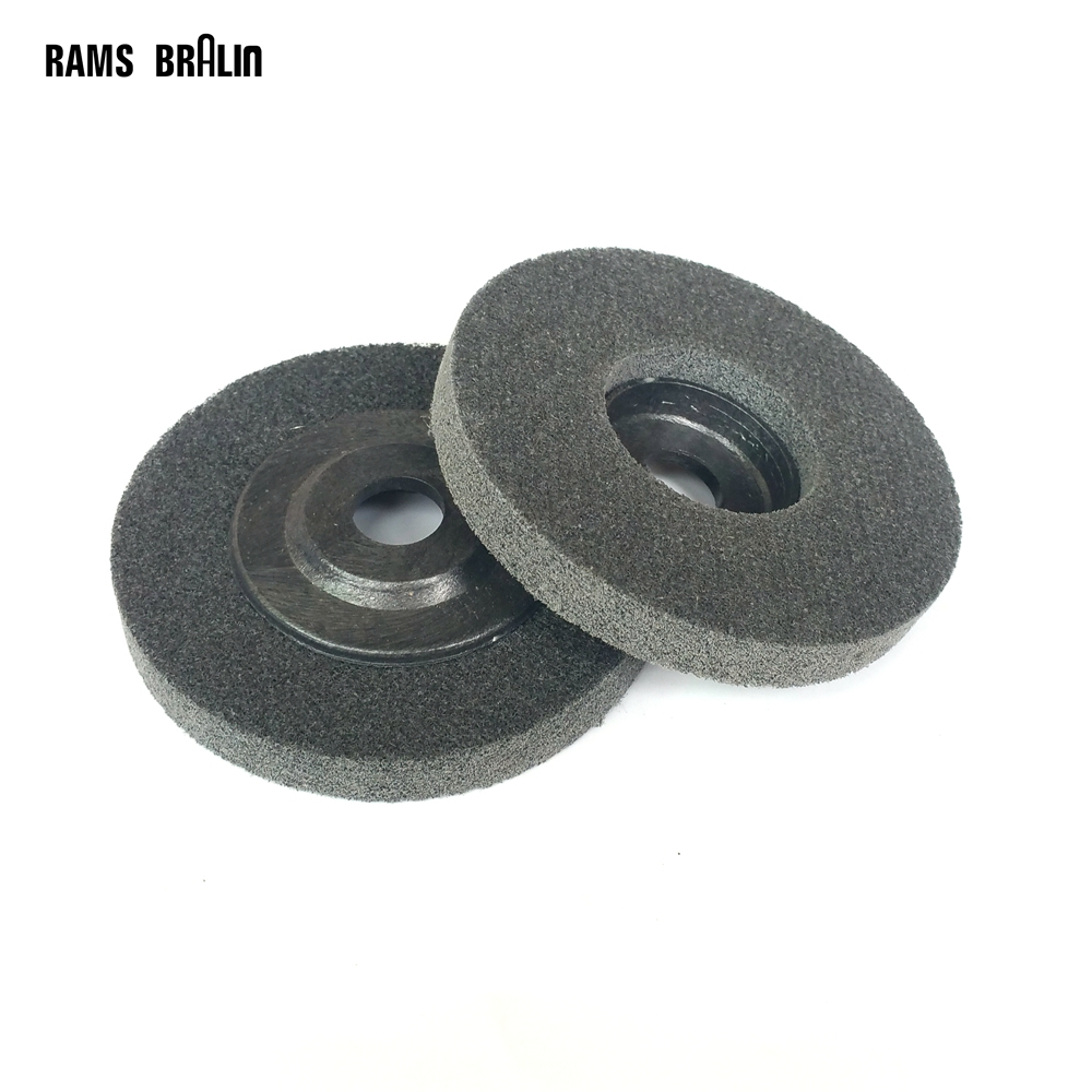 10 Pieces 100*12*16mm Nylon Grinding Disc 7P 180# Flap Wheel For Metal Finish Wood Polishing On Angle Grinder