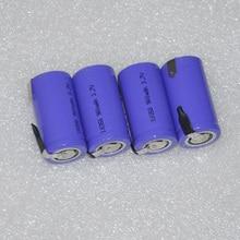 В 4 шт. 18350 в 900 перезаряжаемые батарея 3,7 мАч литий-ионный аккумулятор с сварки tab шпильки flat top