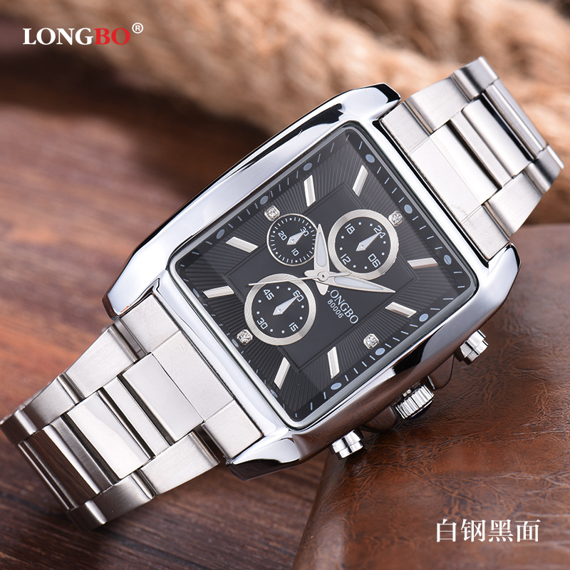 Longbo Fashion Brand Quartz Casual Watch Men Business Sports Military Steel Casual  Water Resistant Dress watches Relojes hombre