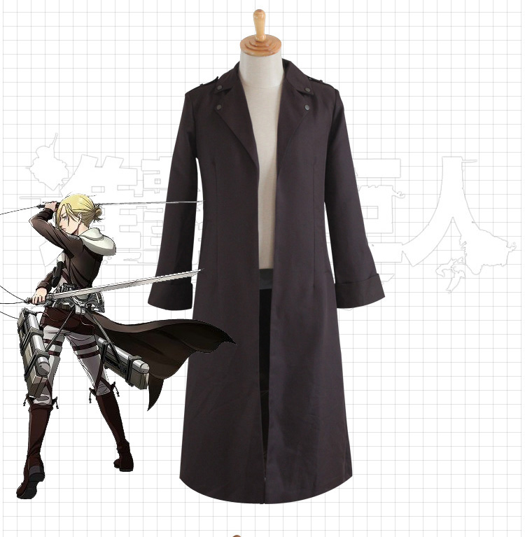Anime Attack on Titan Cloak Cosplay Costume Eren Jaeger Trench Coat Uniform