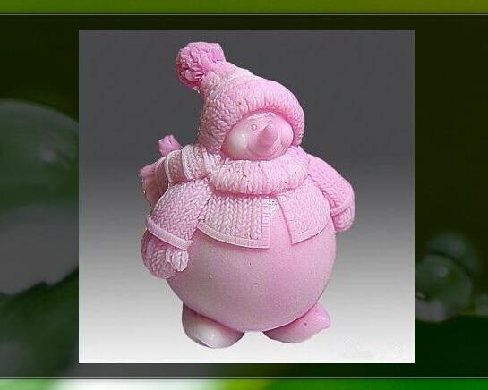3D Sneeuwpop Siliconen mallen Sneeuwpop zeep mal Christma siliconen zeep mallen Kerst silicagel sterven Aroma steen schimmel kaars schimmel