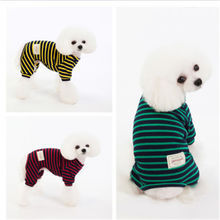 Pet Clothes Spring And Summer Clothing Striped T-shirt Cute Cat Dog Autumn
