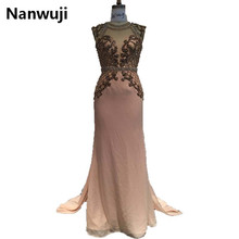 Real Sample Backless Cheap 2017 New arrival Mermaid Evening dresses Rhinestones Detachable Train Evening Gowns robe de soiree