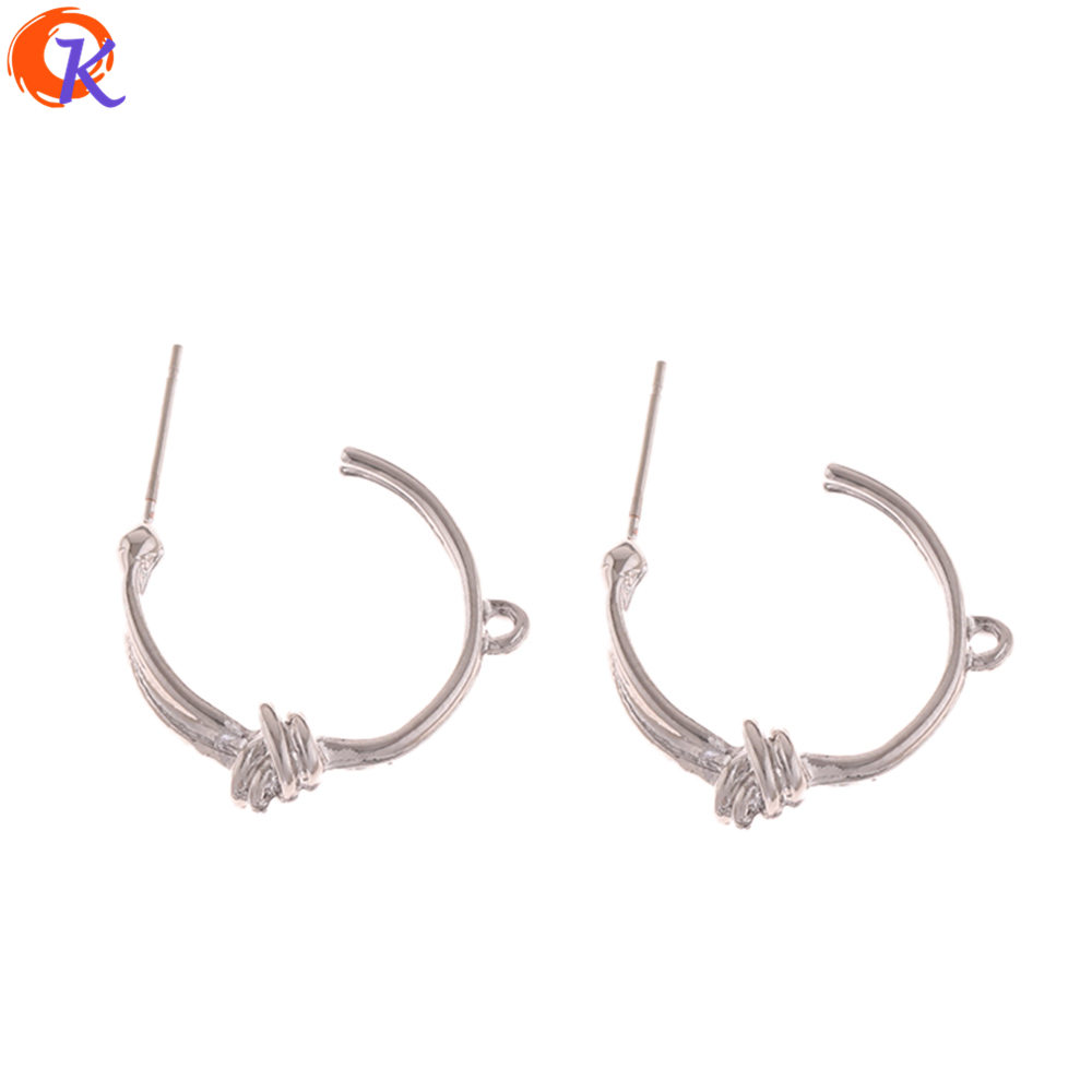 Cordial Design 100Pcs 22*26MM Jewelry Accessories/Earring Stud/Tie Knot Shape/DIY Jewelry Making/Hand Made/Earring Findings