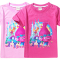 Newest kids girl character t shirt child cartoon Trolls top tees baby summer casual girls costume Children Clothes