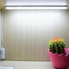 USB LED Desk Lamps 30cm Length SMD 2835 DC5V 90leds/m LED Cabinet Closet Book Table Night Light with Switch LED Rigid Bar Strip