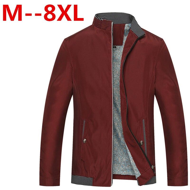 Buy 9XL 8XL 7XL 6XL Men Jacket 2016 New Arrival Slim Men Jacket Fashion Korean Style Mandarin Collar Zipper Young Thin Men Jacket