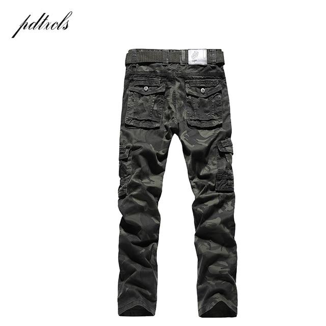 PDTXCLS  Spring New Cargo Pants Men Cotton Tactical Trousers Men Work Mens Trousers Overalls Pantalon Homme Verion camouflage 32