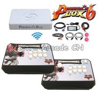 3D Pandora's Box 6 Wireless Arcade Stick Mini Console Pandora Box 6 1300 in 1 MAME Game Board Controller 2 players To PS3 PC TV