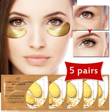 10pcs=5pack Crystal Collagen Golden Eye Mask Dark Circle Firming Eye Care Anti Aging Patches Eye Bag Puffiness Face Skin Care(China)