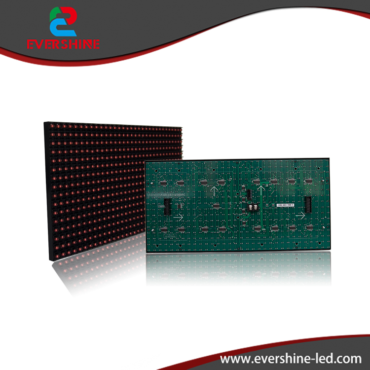10mm DIP P10 Semi-outdoor 1R Single Color 320*160mm 32*16 pixels LED Display Screen Module Custom made Size,led sign board hd high quality led gas price display sign outdoor led billboard green color 12 outdoor led display screen