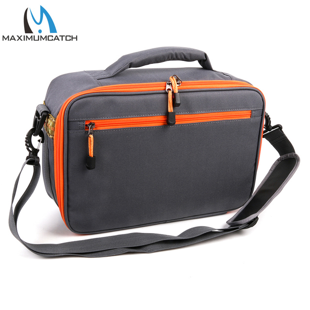 Best Offers Maximumcatch Fishing Bag Adjustable Six Compartments Waterproof Fly Fishing Bag Sling Bag