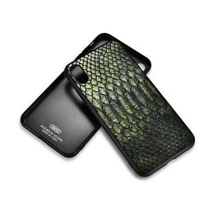 Image 4 - XOOMZ Para iPhone XS Max Caso Python Cobra PU LEATHER TPU Silicone Fino Proteção Integral XS XS MAX XR X Caso Tampa Traseira Para o iphone