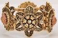 Flor de girasol pulsera del estiramiento para las mujeres del verano lindo de joyería de moda brazalete F02 antique gold & silver plated
