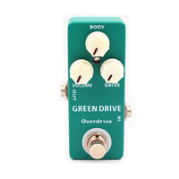 Mosky GREEN DRIVE Guitar Effect Pedal Full Metal Shell Complex and Compressed Overdriven AmpSound