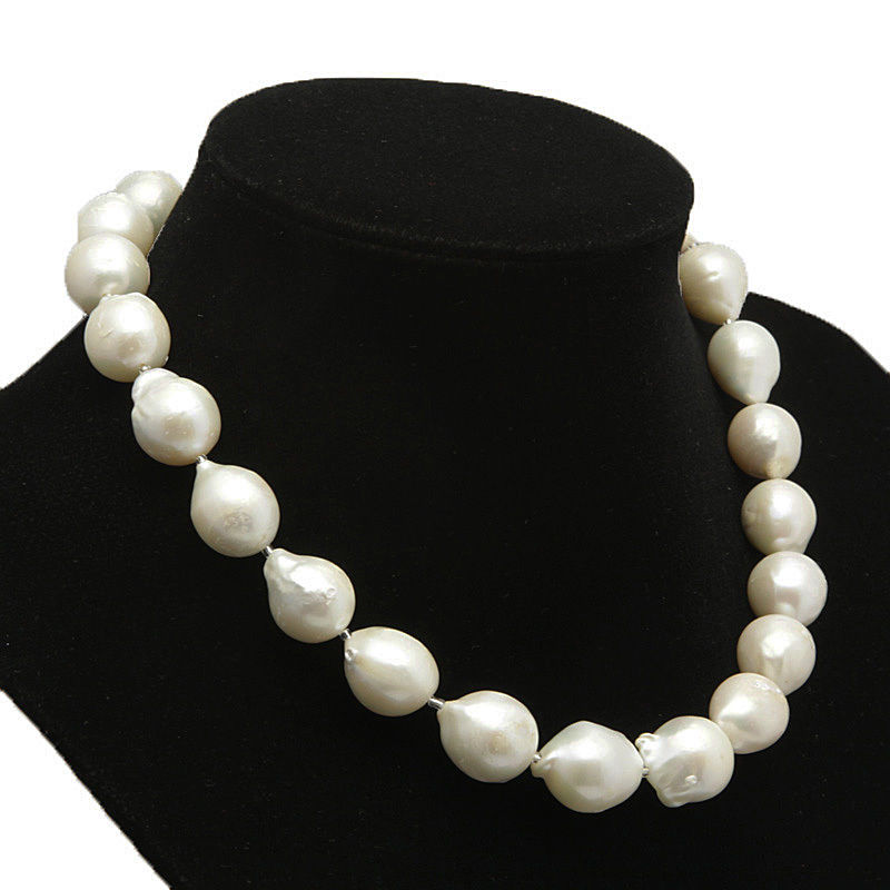 xiuli 003521 beautiful White FreshWater Pearl Baroque pearl necklace