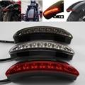 Clear/Red/Black Chopped Fender Edge LED Tail Light For Harley Davidson XL Sportster 883 1200