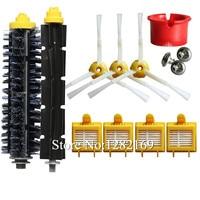 1 Set Robot Vacuum Cleaner Bristle Brush 4x HEPA Filter 3x Side Brush Kit Replacement For