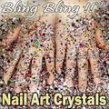 Bling Bling! Tamaños de La Mezcla Colores 2200 unids/lote Cristales Rhinestones de la Resina Del Arte Del Clavo No HotFix de ss6 ss30, 2mm 3mm Uñas Reluce Strass
