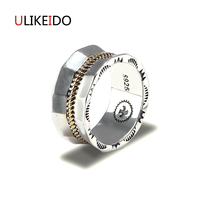 Pure 925 Sterling Silver Jewelry Feather Rings Eagle Width Vintage Men Signet Ring For Women Birthday