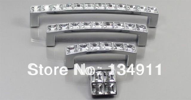 Fashion 10pcs 96mm Rectangle Handles Acrylic Drawer Knobs Furniture Crystal  Cabinet Pulls Door Pulls Big Handles