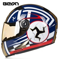 Free shipping 1pcs 2018 NEW Motocross Full Face capacete ECE Approved Helmets DOT Dual Visor Flip Up Motorcycle Helmets